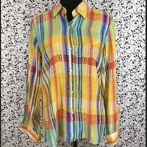 Austin Reed Multicolored Silk Blouse